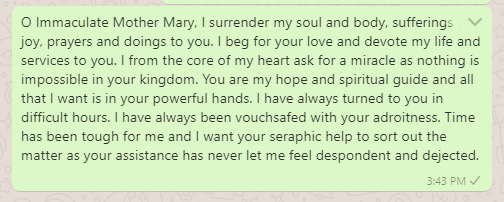 Prayer to Mother Mary for Miracle